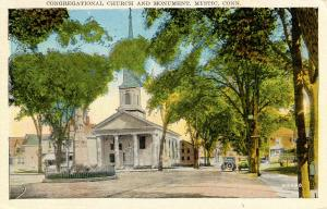 CT - Mystic. Congregational Church and Monument
