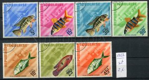 266183 TOGO 1967 year used stamps set FISHES