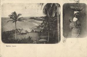 brazil, BAHIA, Pharol da Barra, Native Woman Head Transport (1902) Postcard