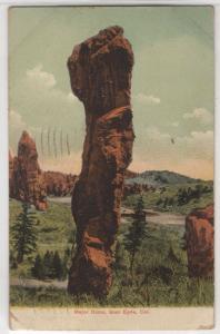 Major Domo Rock Formation Glen Eyrie Colorado CO 1910 Antique Postcard