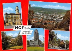 Hof Saale Die Stadt der Spindeln Rathaus Town Hall Monument Auto Cars Panorama