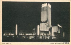 1933 General Motors BuildingNight Expo Cadillac Lasalle CHICAGO Exposition16-46