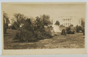 Washington DC White House Sputh Front From Presidents Garden c1905 Postcard M20