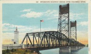 Bridge over Columbia River, Between Portland,Oregon and Vancouver,Washington,...