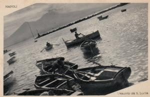 NAPOLI , Italy , 1910s ; Vesuvio da S. Lucia