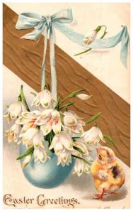 Easter,  Chicks egg of flowers
