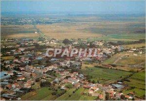 Postcard Modern Crane (Vendee) France Overview Sky view