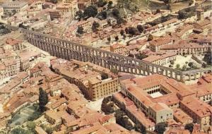1960 Official Iberia Spanish Airlines Postcard Segovia, The Roman Aqueduct D45