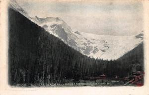 The Great Glacier, Mount Sir Donald, B.C., Canada, Early Postcard, Unused