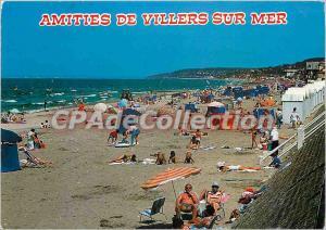 Modern Postcard The Cote Fleurie Villers sur Mer (Calvados) Beach