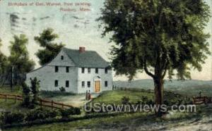 Birthplace of Gen. Warren Roxbury MA 1907