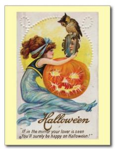 Halloween If Your Lover Is Seen in Mirror REPRO Vintage