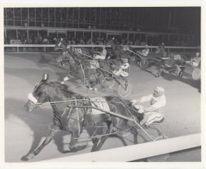 WINDSOR RACEWAY, Harness Horse Race, L. J. HUMBLE wins 1983