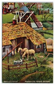 Mid-1900s Miniature City, Holland, MI Postcard
