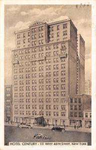 New York City~Hotel Century~West 46th~Had Wonderful Time at Fair~1939 Lumitone