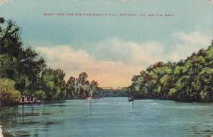 Boat Racing On The Beautiful Poteau, Ft. Smith, Arkansas, 1900-1910s
