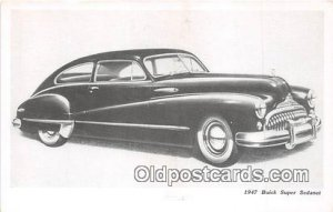 1947 Buick Super Sedanet Auto, Car Stain on back stains on back of card