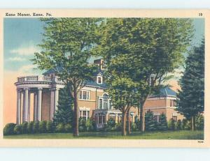 Unused Linen INN MOTEL Kane - Near Bradford & Warren & St. Mary'S PA c5933-12