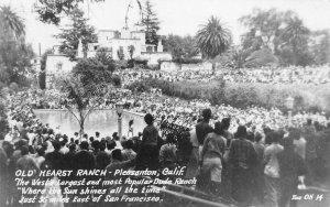 RPPC OLD HEARST DUDE RANCH Pleasanton, CA Pool c1940s Zan Photo Vintage Postcard