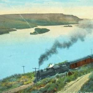 Express Train along Snake River Idaho postcard