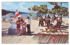 Beach Party on Northcoast, Jamaica, W.I., 40-60s