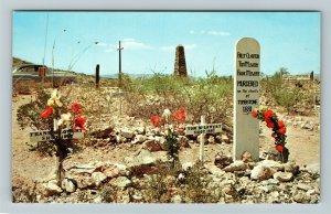 Tombstone AZ- Arizona, Boothill Graveyard, OK Corral Battle, Chrome Postcard