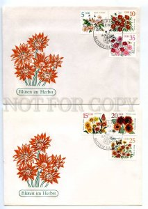 d417280 EAST GERMANY GDR 1982 First Day covers Flowers