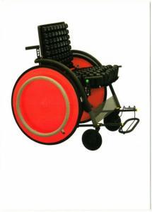 Carna Folding Wheelchair by Kazuo Kawasaki Japanese Modern Design Postcard