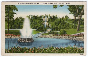 Bangor, Maine, Electric Fountain And Falls, State Street Park