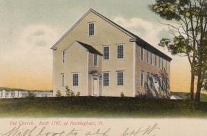 ROCKINGHAM, Vermont, PU-1907; Old Church, Built in 1787