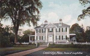 Massachusetts Cambridge Home Of Longfellow