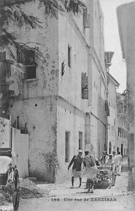 Tanzania Une rue de Zanzibar, Cart, Vehicle, Messageries Maritimes