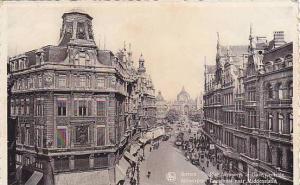 Rue Leys Vers La Gare Centrale, Anvers (Antwerpen), Belgium, 1910-1920s