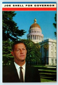 CALIFORNIA~Republican CANDIDATE  JOE SHELL  c1960s Political Postcard
