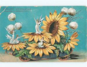 1908 postcard PRIESTS OF DALLAS PARADE SOUVENIR POSTCARD Kansas City MO E6614
