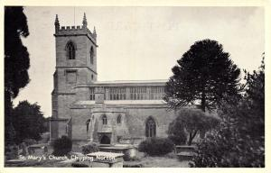 Vintage B&W Postcard St. Mary's Church Chipping Norton Oxfordshire