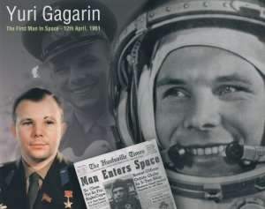 Yuri Gagarin The First Man In Space 10x8 Official Photo