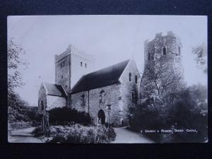 Kent DOVER CASTE Church & Pharos - Old RP Postcard