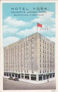 CALGARY, Alberta, Canada, PU-1934; Hotel York