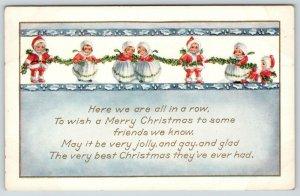 Christmas~Nimble Nicks~Mini Santas & Mrs Claus' Hang Holly Berry~Whitney Made