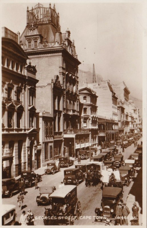 South Africa Cape Town St George's Street Old Cars Real Photo sk1791a
