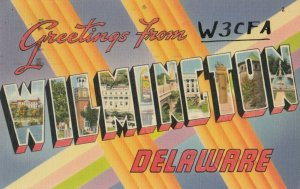 Large Letter  WILMINGTON , Delaware, 1930-40s