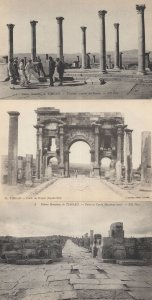 Timgad Porto De Trajan Ruines Guided Tours 3x Algeria Postcard s