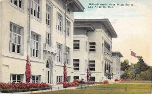 Los Angeles California~Manual Arts High School~1947 Postcard