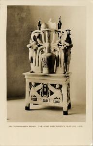 egypt, Tutankhamen Series, The King and Queen's Perfume Vase (1930s) RPPC