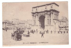 Marseille - La Port D'Aix - Horse and carraige - terminus - Postally used
