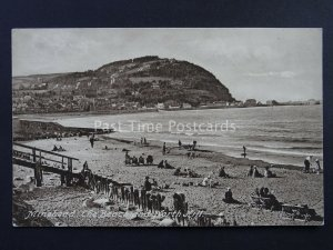 Somerset MINEHEAD The Beach & North Hill c1923 Postcard by Frith 74968