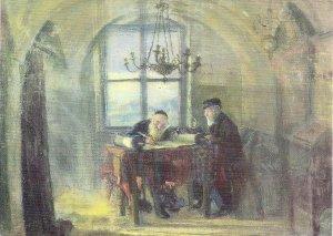 JUDAICA, Jewish Historical Institute, Warsaw, Poland, Art, Torah Scribe, Polish