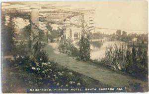 RPPC Samarkand Persian Hotel, Santa Barbara, California, CA, 1927