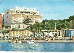 Italy, Hotel Majestic, Ischia Porto, 1968 used Postcard